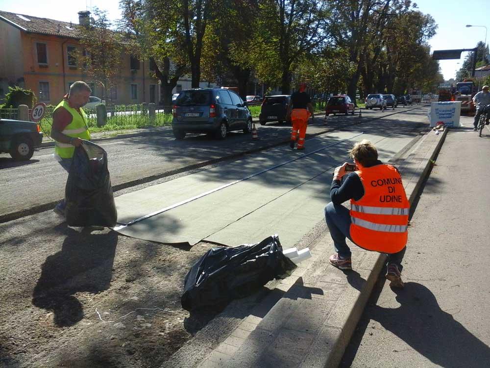 Posa di Autotene su base fresata - V.le Ledra Udine